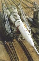 Царь-ракета на пути к стартовой площадке.