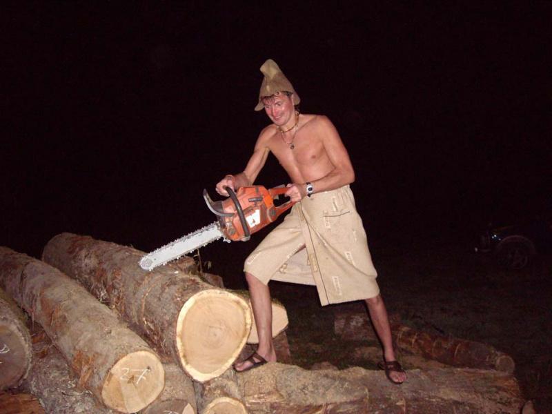 Заготовка дров для бани