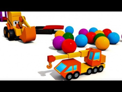Развивающий мультфильм: Экскаватор Мася и Подъемный Кран. 3D мультики про машинки.