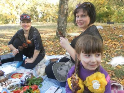 пикник уходящей осенью
